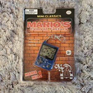 Mario Cement Factory Keychain Game